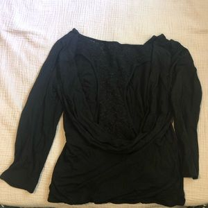 Black open back long sleeve.